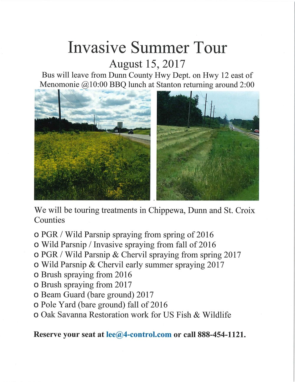 2017 4-Control Summer Invasive Tour