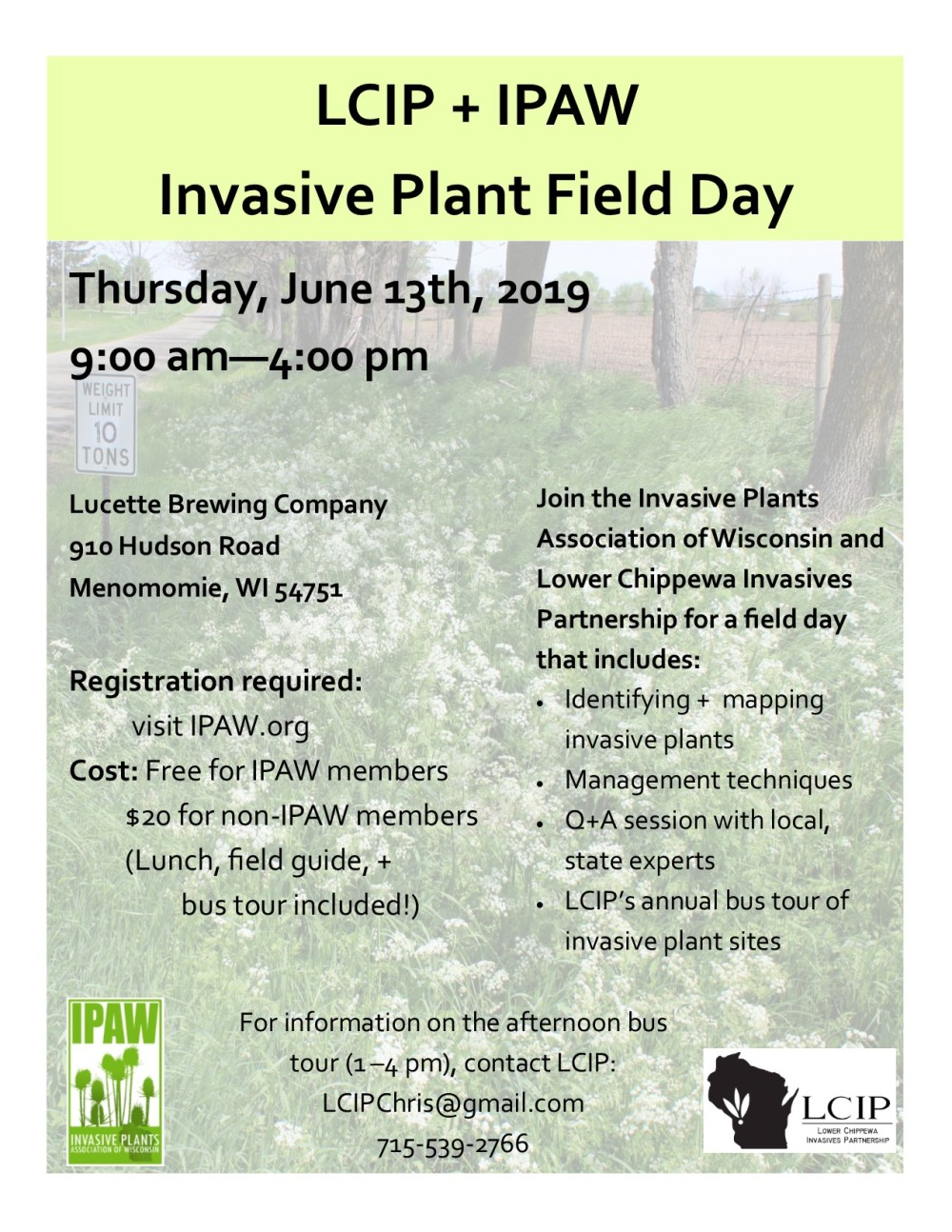 2019 IPAW LCIP Field Day